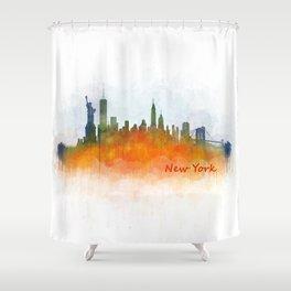 New York City Skyline Hq V03 Shower Curtain