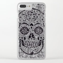 Mosaic Skull Clear iPhone Case