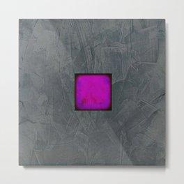 Slate Gray Lavender Fuschia Modern Art Metal Print