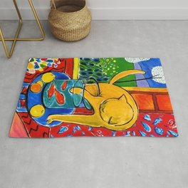 Henri Matisse - Cat With Red Fish still life painting Rug