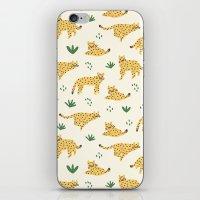 cheetah iPhone & iPod Skins featuring Cheetah by Sara Maese
