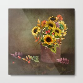 Pretty Even in a Rusty Bucket Metal Print