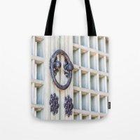 korean Tote Bags featuring Korean Palace Doors by Jennifer Stinson