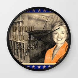 Four More Years! HRC Wall Clock