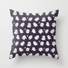 Baby Barn Owls - dark Throw Pillow