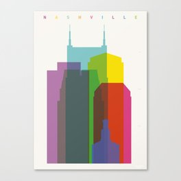 Shapes of Nashville Canvas Print
