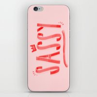 sassy iPhone & iPod Skins featuring Sassy  by ridiculouslyhappysmiles