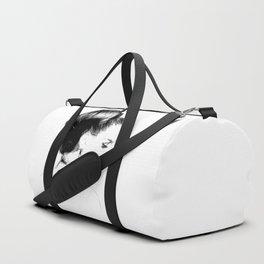 Woman Portrait Fashion Minimal Drawing Duffle Bag