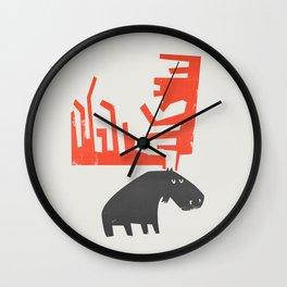 Grumpy Moose Wall Clock