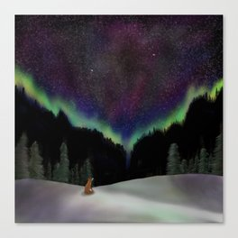 Captured by the night Canvas Print