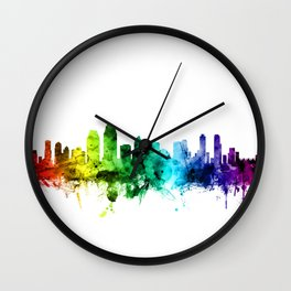 San Diego California Skyline Wall Clock