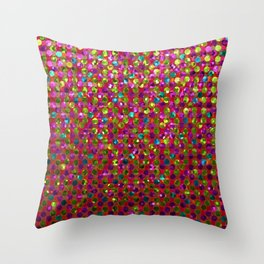 Polka Dot Sparkley Strass G266 Throw Pillow