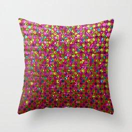Polka Dot Sparkley Strass G266 Throw Pillow