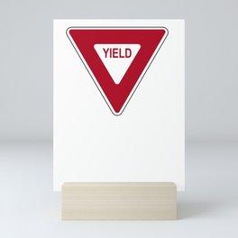 Yield road sign T-shirt Mini Art Print