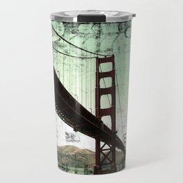 Vintage Green Golden Gate Bridge Travel Mug