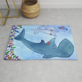 Whale Concert Rug