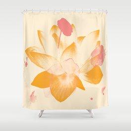 Lotus Dreams 1 - Design by Jen Sievers Shower Curtain