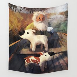 One's Going East, One's Going West. So What? Wall Tapestry