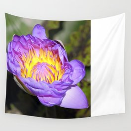 Oil Painting of Open Water Lily Blossom Wall Tapestry