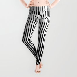 op art - vertical triangles Leggings