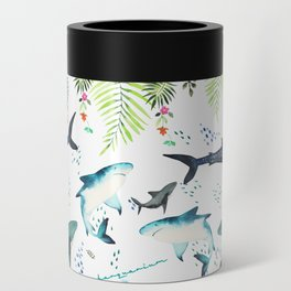 floral shark pattern Can Cooler