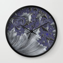 Silver Filigree Wall Clock