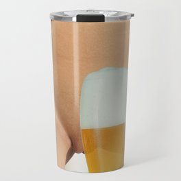 Beer and Naked Woman Travel Mug