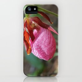 The Pink Lady Slipper iPhone Case