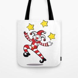 Clown juggling stars Tote Bag