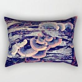 Wood Mushrooms Rectangular Pillow