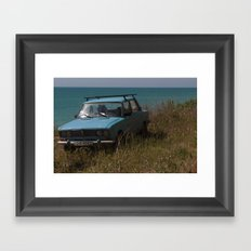 Car on the Coast Framed Art Print