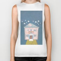 starry night Biker Tanks featuring starry night by ARTION
