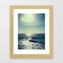 and the waves carried her away Framed Art Print