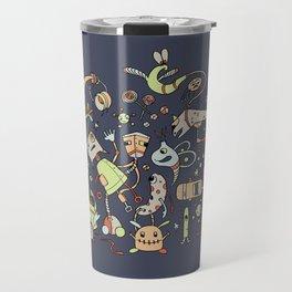 Doodle Bots by dana alfonso Travel Mug
