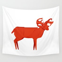 Origami Forest Deer Wall Tapestry