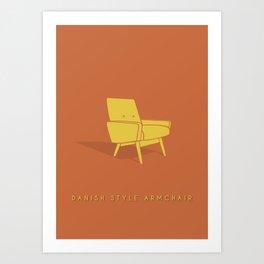 Danish Style Armchair Art Print
