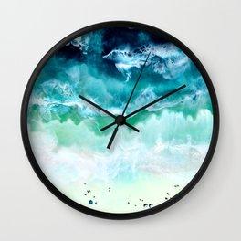 Aerial Beach Wall Clock