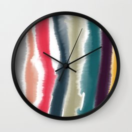 Vintage Watercolor Stripes Wall Clock