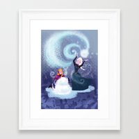 snowman Framed Art Prints featuring Snowman by Samanthadoodles
