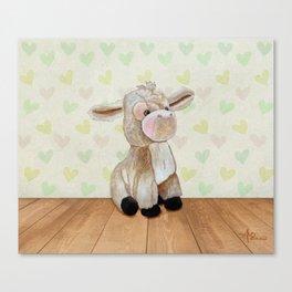 Cuddly Donkey Canvas Print