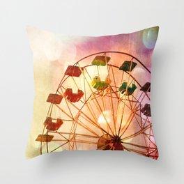 Carnival Ferris Wheel Throw Pillow