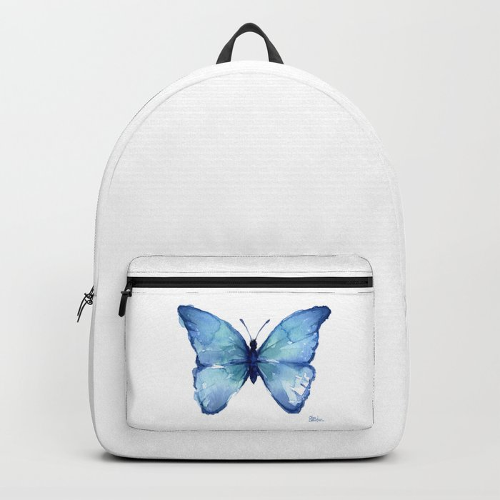 Blue Butterfly Watercolor Rucksack