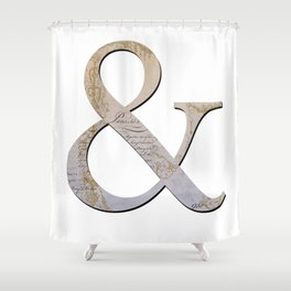 French Ampersand Shower Curtain
