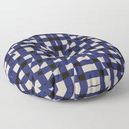 Shatter Gingham (Blue) Floor Pillow