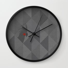 Black palm cockatoo Wall Clock