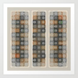 Pale Spacey Panels Art Print