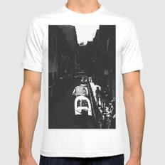 Along the path White Mens Fitted Tee MEDIUM