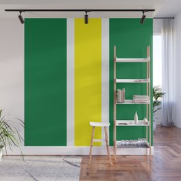 TEAM COLORS 10 ...YELLOW,GREEN Wall Mural
