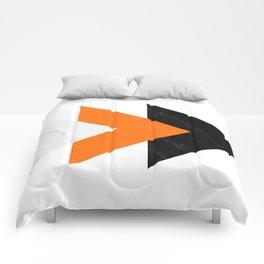 Forward arrows marble orange Comforters