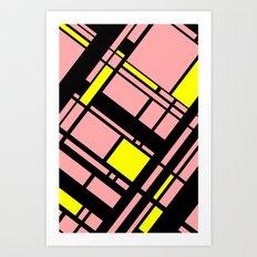Grid Pattern 4 Art Print